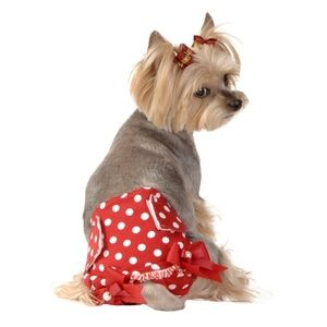 Other - Female dog diaper with polka dots and bows